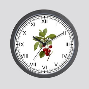 Provencal Cherries Wall Clock