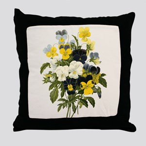 Provencal Natural Pansy Throw Pillow