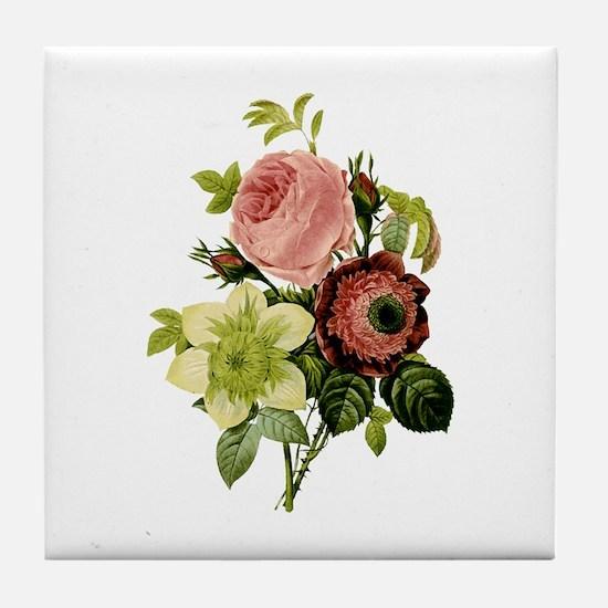 Provencal Floral I Tile Coaster
