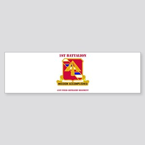 DUI - 1st Bn - 41st FA Regt with Text Sticker (Bum