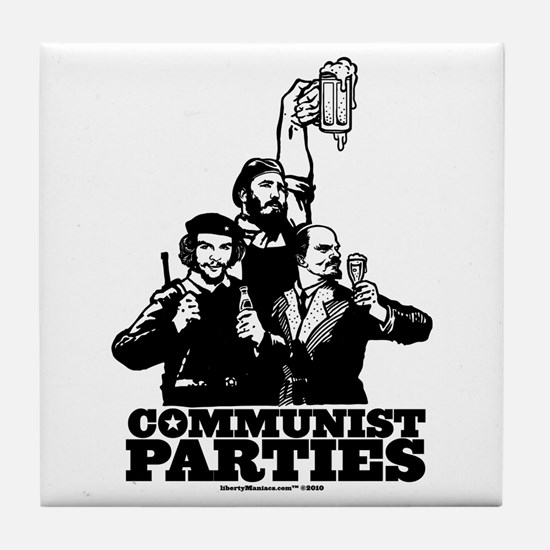Communist Parties Tile Coaster