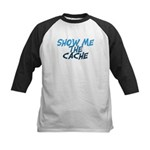 Show Me The Cache Kids Baseball Jersey