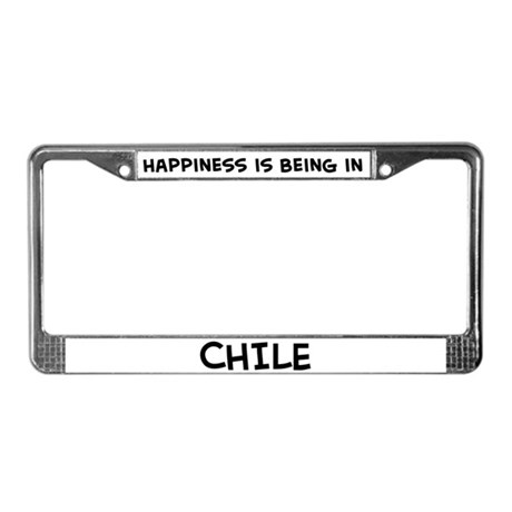 Happiness is Chile License Plate Frame