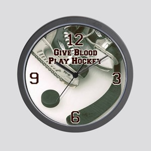 Give Blood, Play Hockey Wall Clock