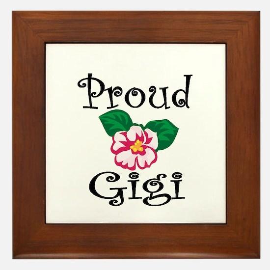 Proud Gigi Framed Tile