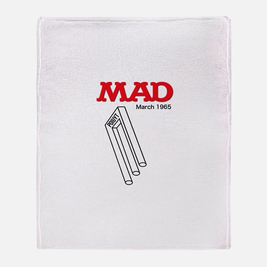 Mad Poiuyt Throw Blanket