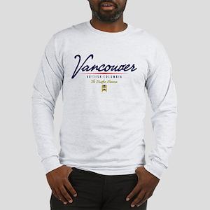 Vancouver Script Long Sleeve T-Shirt