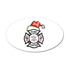 Firefighter Santa Wall Decal