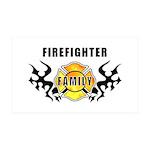 Firefighter Family 38.5 x 24.5 Wall Peel
