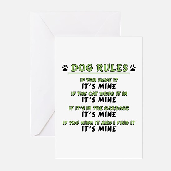 Dog Rules Greeting Cards (Pk of 10)