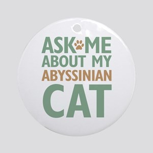 Abyssinian Cat Ornament (Round)