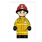 Cute Little Firefighter Postcard (Package of 8)