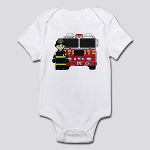 Firefighter and Fire Engine Bodysuit