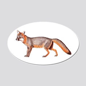 Gray Fox Animal Lover 22x14 Oval Wall Peel