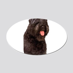 Bouvier Des Flandres Dog 22x14 Oval Wall Peel