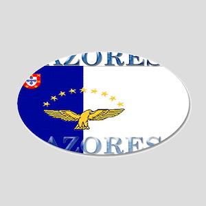 Azores Flag 22x14 Oval Wall Peel