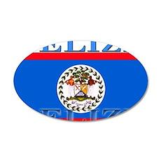 Belize Belizean Flag 22x14 Oval Wall Peel