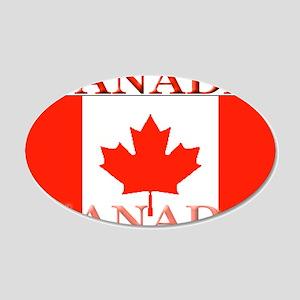 Canada Canadian Flag 22x14 Oval Wall Peel