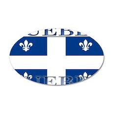 Quebec Quebecer Flag 22x14 Oval Wall Peel