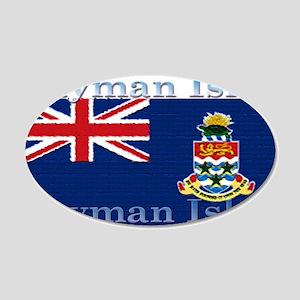 Cayman Islands 22x14 Oval Wall Peel