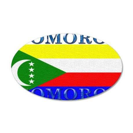 Comoros 22x14 Oval Wall Peel