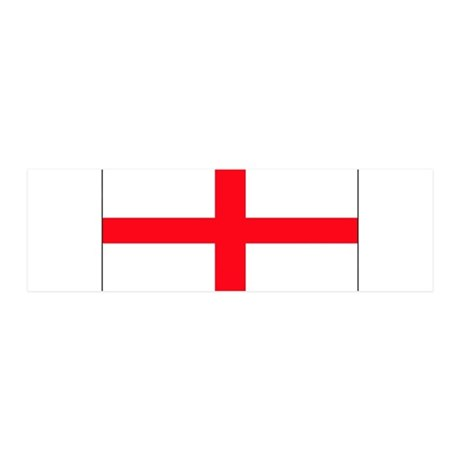 England English Flag 21x7 Wall Peel