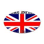 Great Britain British Flag 22x14 Oval Wall Peel