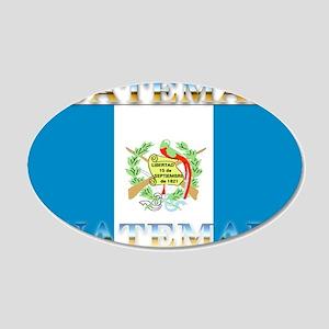 Guatemala Guatemalan Flag 22x14 Oval Wall Peel