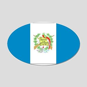 Guatemala Blank Flag 22x14 Oval Wall Peel