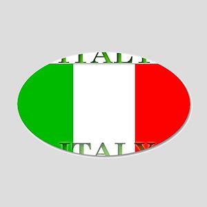 Italy Italian Flag 22x14 Oval Wall Peel