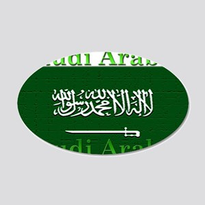 Saudi Arabia Arabian Flag 22x14 Oval Wall Peel