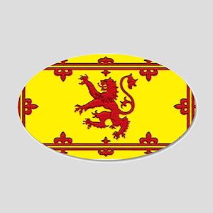 Scotland Scottish Blank Flag 22x14 Oval Wall Peel
