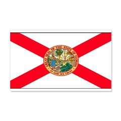 Florida Sunshine State Flag 22x14 Wall Peel