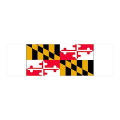 Maryland Blank Flag 21x7 Wall Peel