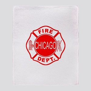Chicago Firedepartment Throw Blanket