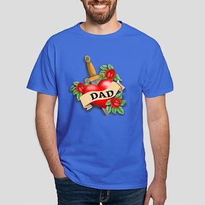 Dad's Heart Dark T-Shirt