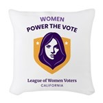 Women Power The Vote Woven Throw Pillow