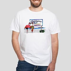 Southernmost Flamingo T-shirt (white)