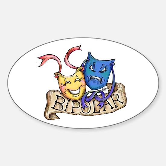 Bipolar Warning Label.bumper sticker