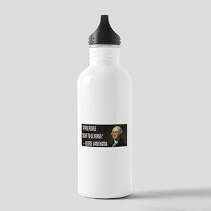 George Washington On Guns Stainless Water Bottle 1