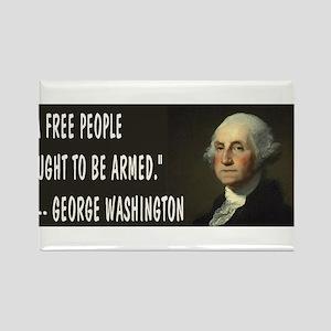 George Washington On Guns Rectangle Magnet