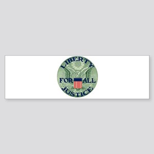 Liberty & Justice for All Sticker (Bumper)