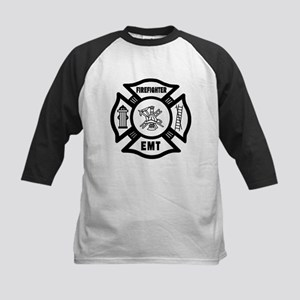 Firefighter EMT Kids Baseball Jersey