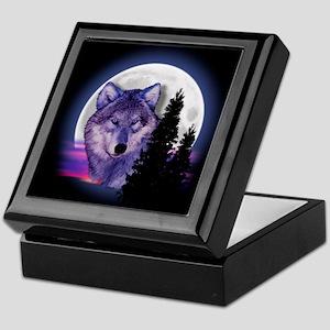 Moon Wolf Keepsake Box