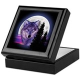 Wolf Square Keepsake Boxes