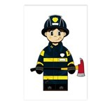 Firefighter with Axe Postcard (Package of 8)