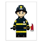 Firefighter with Axe Small Poster