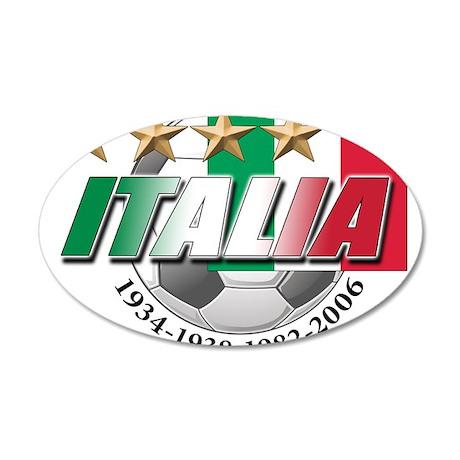 Italian soccer emblem 38.5 x 24.5 Oval Wall Peel