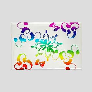A hidden message Rectangle Magnet