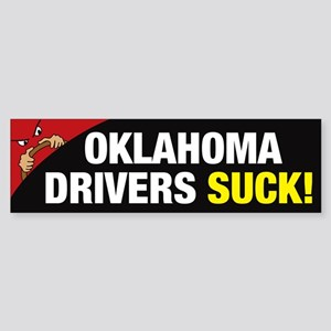 Oklahoma Drivers Suck Sticker (Bumper)